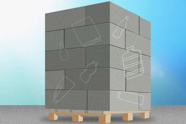 Students fortify concrete by adding recycled plastic