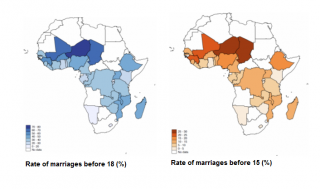 Study finds child marriage remains widespread in many countries of sub-Saharan Africa