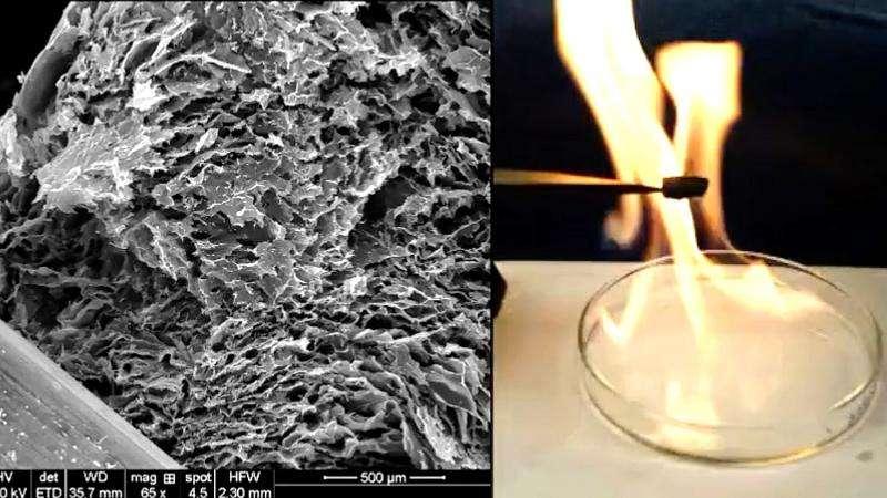 Super-light graphene and ceramic metamaterial possesses high