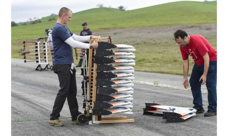 Swarms of Autonomous Aerial Vehicles Test New Dogfighting Skills