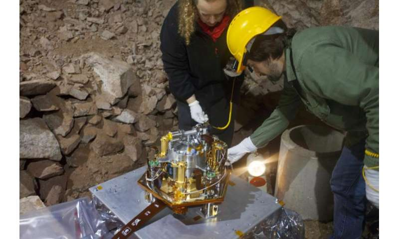Test of Mars-bound instruments in the Black Forest