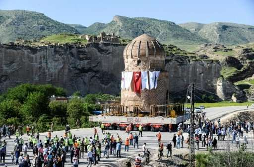 """The 15th-century tomb of Zeynel Bey was transfered to a new """"archeological park"""" in May, a move that infuriated critic"""