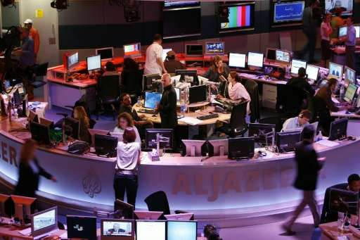 The attack was also confirmed by a source at Al-Jazeera, whose newsroom in Doha is seen in 2006, who said the broadcaster was at