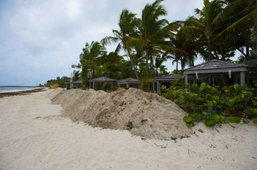 The Category Five hurricane is set to strike the popular holiday destinations of Saint Martin and Saint-Barthelemy, with the Fre