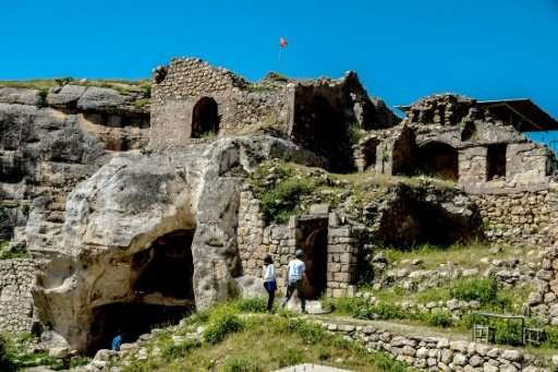 The caves in the cliffs overlooking Hasankeyf, which has been home to Romans, Byzantines and Turkik tribes over 10,000 years of