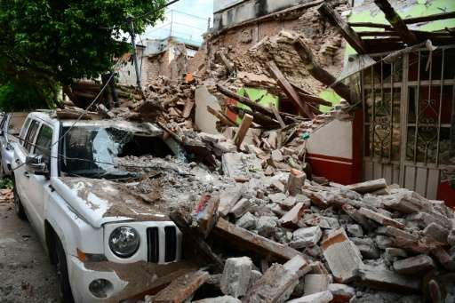 The devastation in Juchitan de Zaragoza caused by the huge earthquake that hit Mexico's Pacific coast