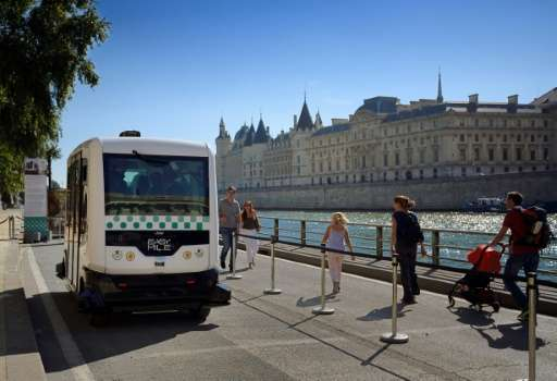 The first stage of Paris' driverless bus experiment involves two vehicles and will last three months