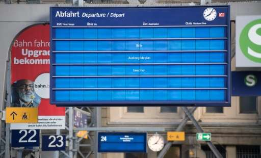 The huge cyberattack wiped out display screens at rail stations in Germany