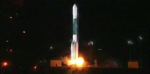 The Joint Polar Satellite System-1 (JPSS-1) lifts off on a United Launch Alliance Delta II rocket from Vandenberg Air Force Base