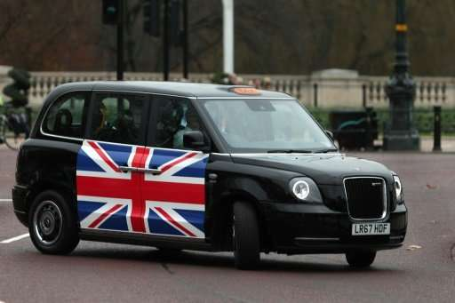 The new electric TX eCity taxi took a spin near Buckingham Palace.