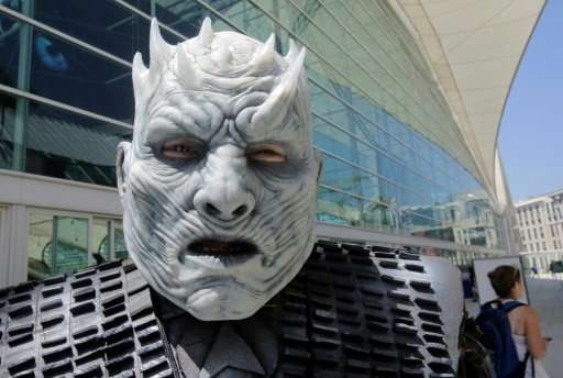 The Night King from the Game of Thrones visited the 2017 Comic-Con event in San Diego, California