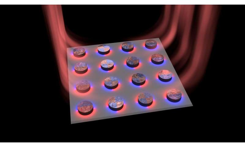 The researchers created a tiny laser using nanoparticles
