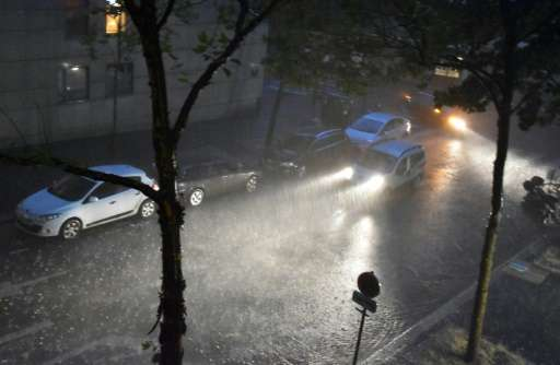 The storm dumped the most rain on Paris over a one-hour period since reliable record-keeping began