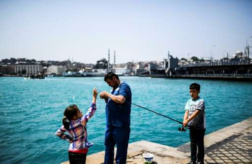 The sudden transformation of the the Bosphorus' waters to a milky turquoise has alarmed some residents