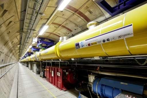 The tunnel system of the European XFEL X-ray Free Electron laser near Hamburg.