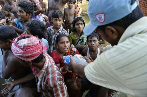 Thousands of soldiers and emergency personnel have been deployed across India, Bangladesh and Nepal, where authorities say a tot