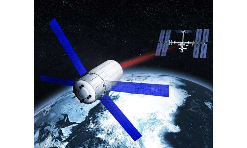 Tracking debris in the Earth's orbit with centimeter precision using efficient laser technology