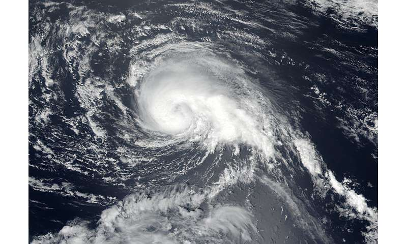 Tropical Storm Kulap forms a fist on satellite image