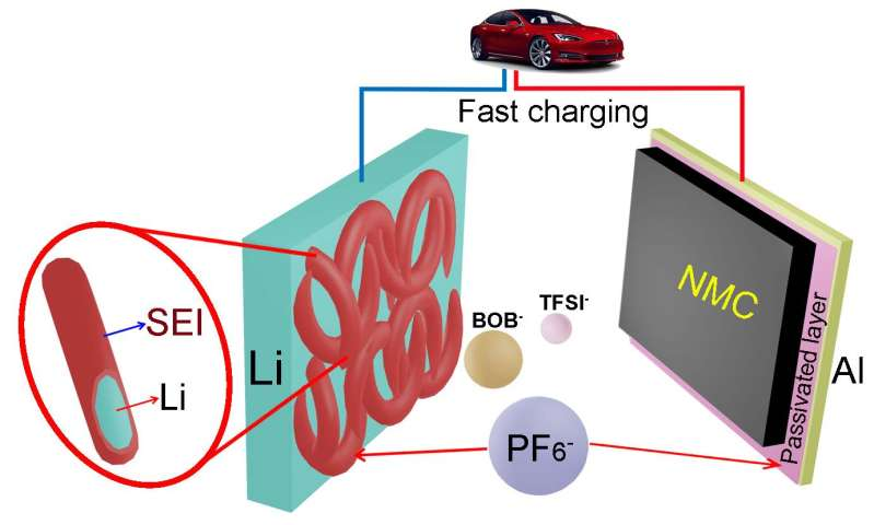 Tweaking electrolyte makes better lithium-metal batteries
