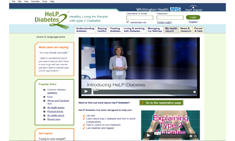Type 2 diabetes successfully managed online