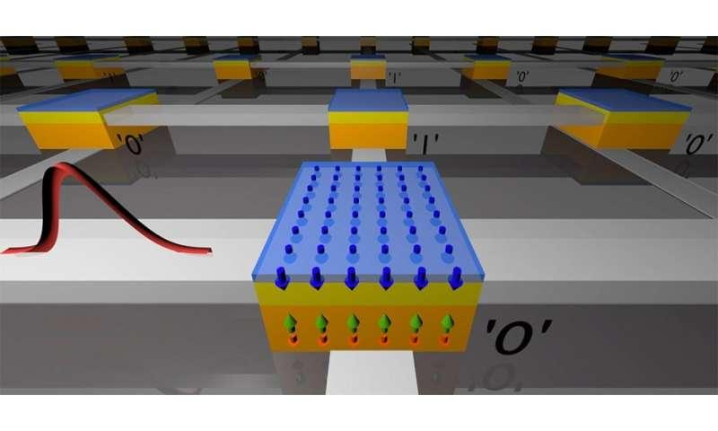 Ultrafast magnetic reversal points the way toward speedy, low-power computer memory