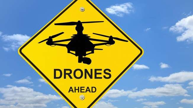 Using a camera to spot and track drones