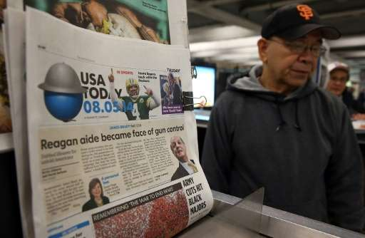 US newsstands are increasingly rare as readers turn to online platforms for information