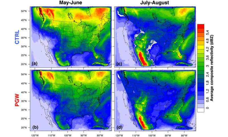 Warmer, wetter climate could mean stronger, more intense storms