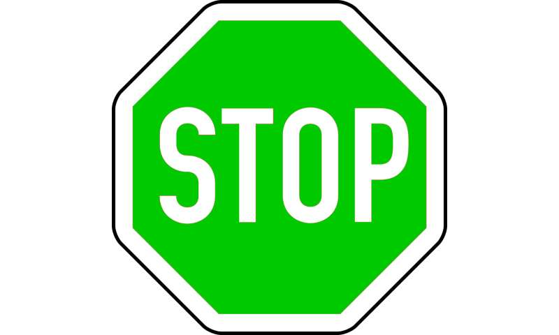 When green means stop