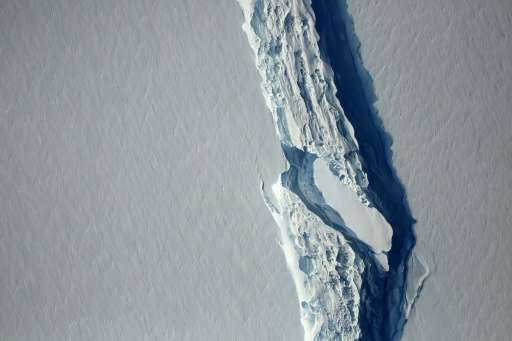 With the calving, the Larsen C ice shelf lost more than 12 percent of its total surface area—larger than the US state of Delawar