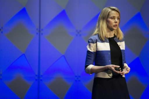 Yahoo CEO Marissa Mayer, seen at a 2016 developer conference, brought a star quality but was unable to save the troubled interne