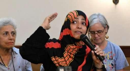 Yemeni Nobel Peace Prize laureate Tawakkol Karman calls for a global tribunal to prosecute executives of multinational corporati