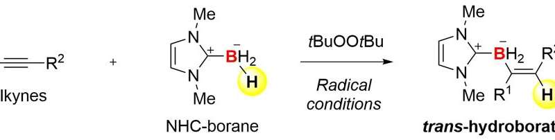 New method for hydroboration of alkynes: Radicals induce unusual selectivity