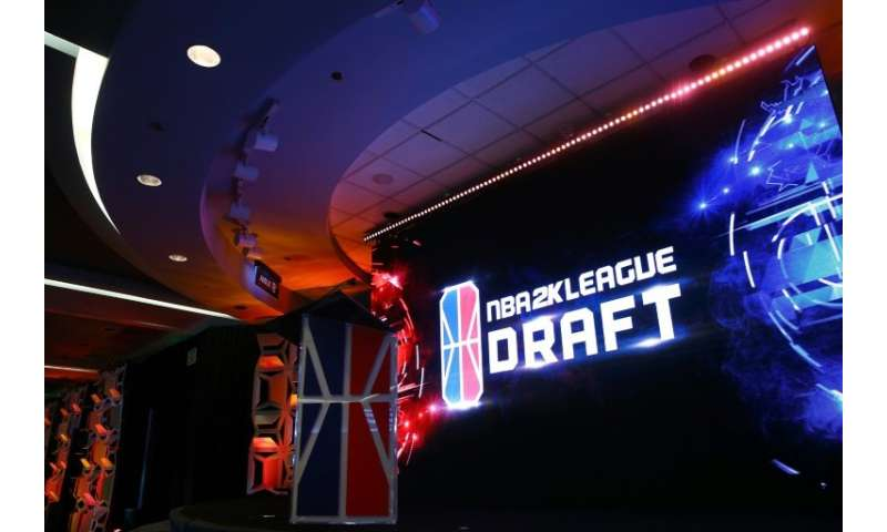 A general view of the NBA 2K League Draft at Madison Square Garden on April 4, 2018 in New York City