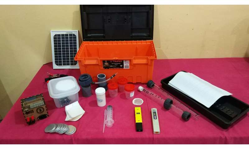 A new portable system of water quality assessment in developing countries