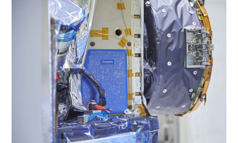 Artwork unveiled on exoplanet satellite