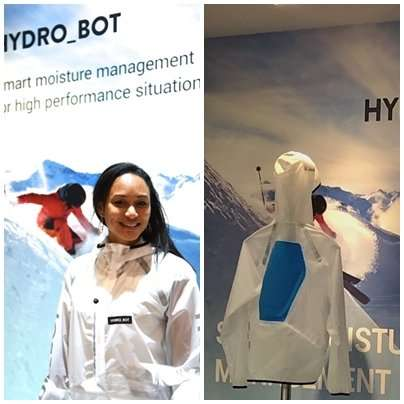 A ski jacket that actively gets rid of sweat