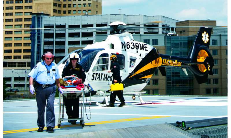 Blood plasma during emergency air transport saves lives