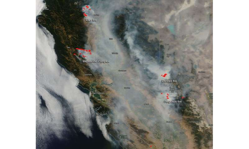 California's Mendocino complex of fires now largest in state's history