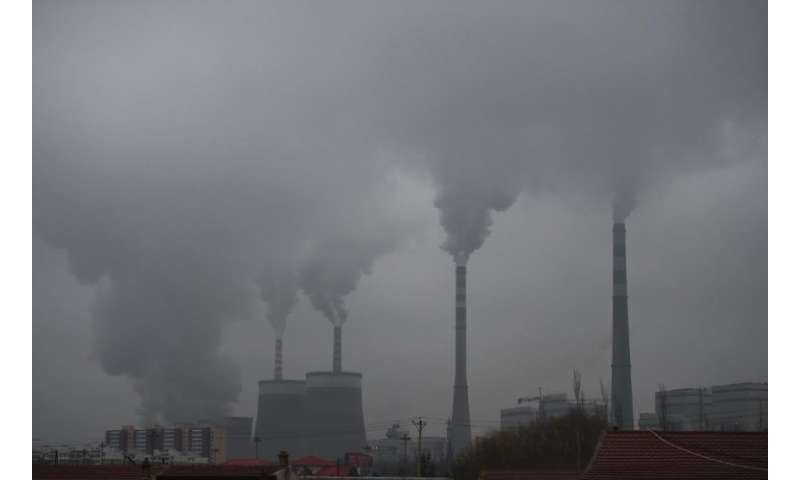 Coal-fired power stations such as this one in China are contributing to CO2 pollution