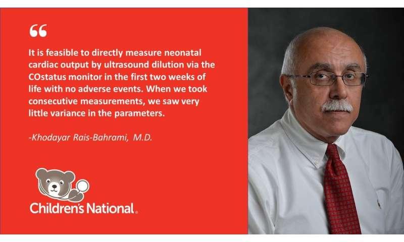 COstatus monitor provides direct measure of neonates' cardiac output