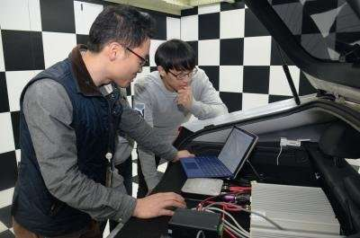 ETRI successfully developed an app for operating self-driving car
