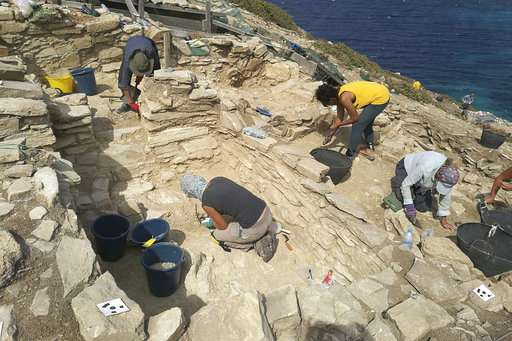 Excavations show remote Greek islet was early industrial hub