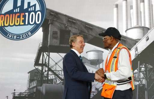 Ford celebrates century of production at storied Rouge plant