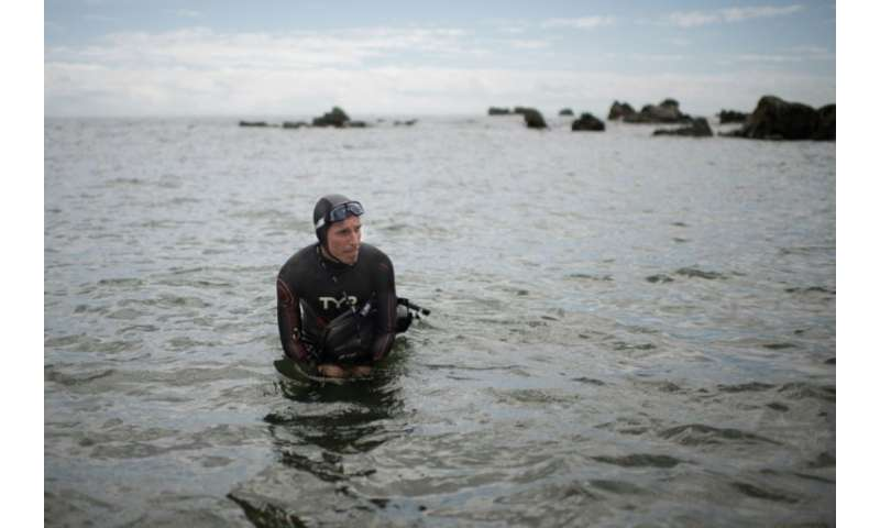 French swimmer Ben Lecomte faces a gruelling six month swim through shark-infested waters