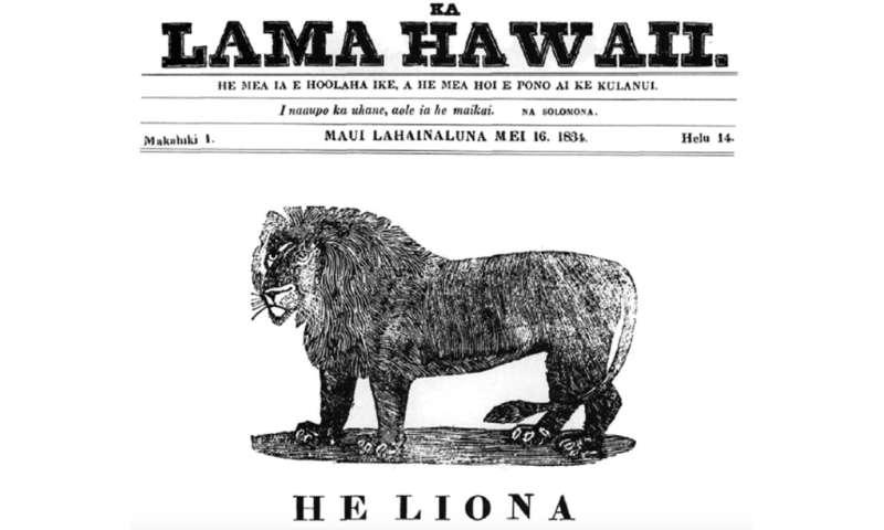 Hawaiian-language newspapers illuminate an 1871 hurricane