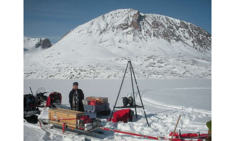 Heat loss from the Earth triggers ice sheet slide towards the sea
