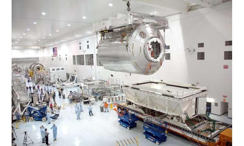 Image: Columbus module to scale