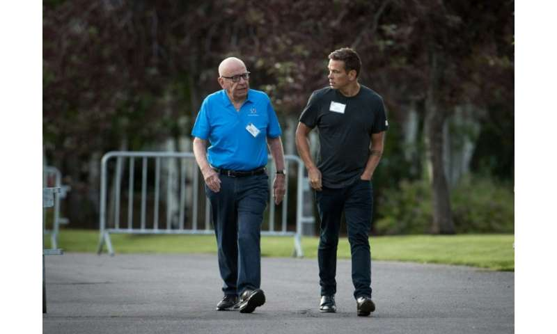 Lachlan Murdoch, seen here with his father Rupert, has joined the board of video game streaming company Caffeine