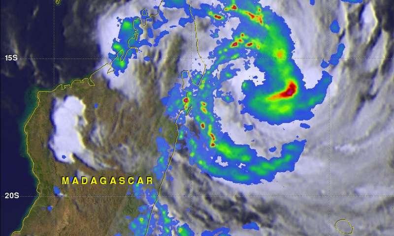 NASA examines Tropical Cyclone Dumazile's flooding rainfall